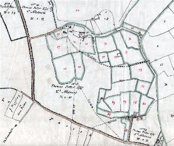 Segenhoe on the inclosure map of 1799 [MA15]